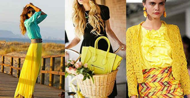 اللون الأصفر يهيمن على اتجاهات موضة الصيف