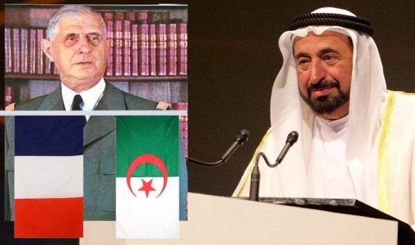 حاكم الشارقة: ديغول منح الإستقلال للجزائر