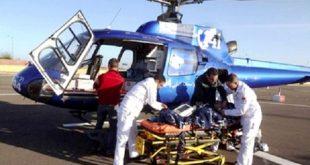 نقل المرضى بالمروحيات الطبية