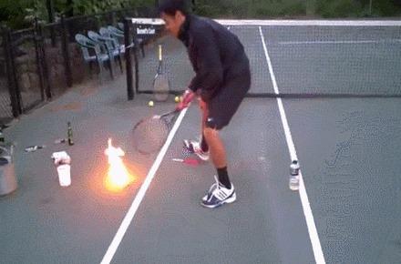كرة تنس النار!