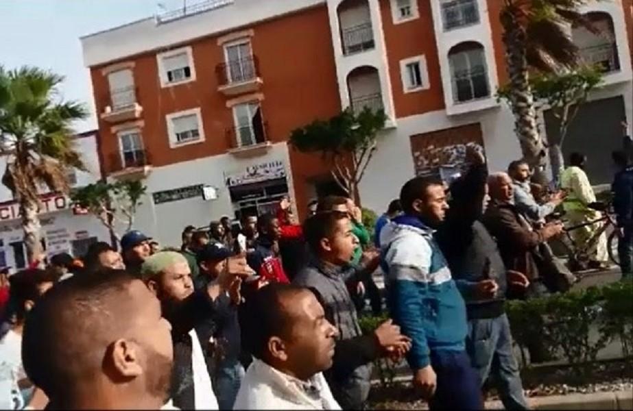 غضب مغاربة ألميرية بعد وفاة مغربي إثر تدخل للحرس المدني