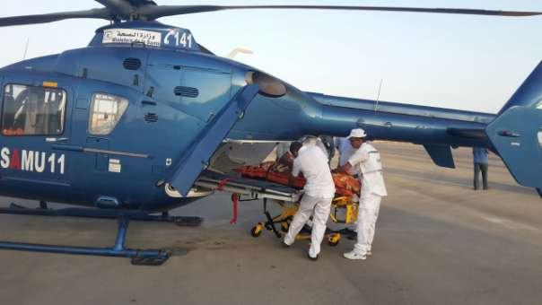 المروحية الطبية تنقل امرأة حامل من السمارة إلى المركز الاستشفائي  بالعيون