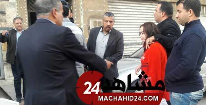 بالفيديو. زوج يحاول اختطاف زوجته بالبيضاء بسبب خلافاتها مع والدته!