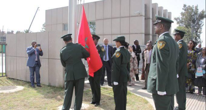 بعد العودة الرسمية.. العلم المغربي يرفرف بمقر الاتحاد الإفريقي