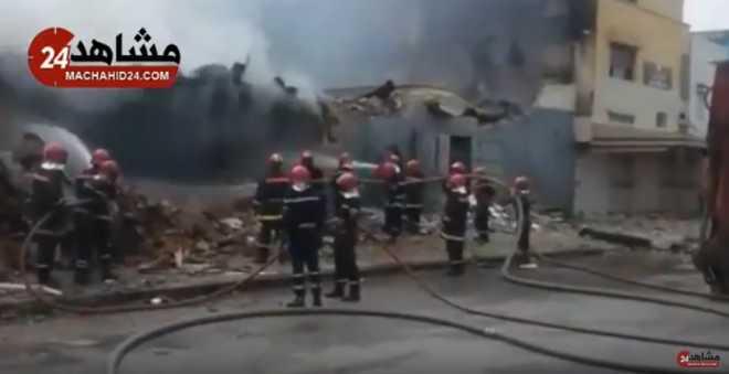 بالفيديو. مستجدات الحريق الذي تسبب في وفاة عنصر من الوقاية المدنية بسلا!