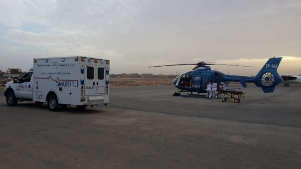 المروحية الطبية تنقل امرأة خضعت لعملية جراحية من العيون إلى مراكش