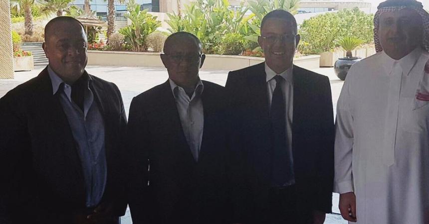 اجتماع بين لقجع و رئيسا الاتحادين العربي والافريقي
