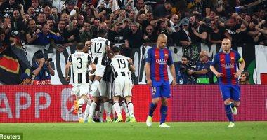 برشلونة يقصى أمام اليوفي من دوري الأبطال