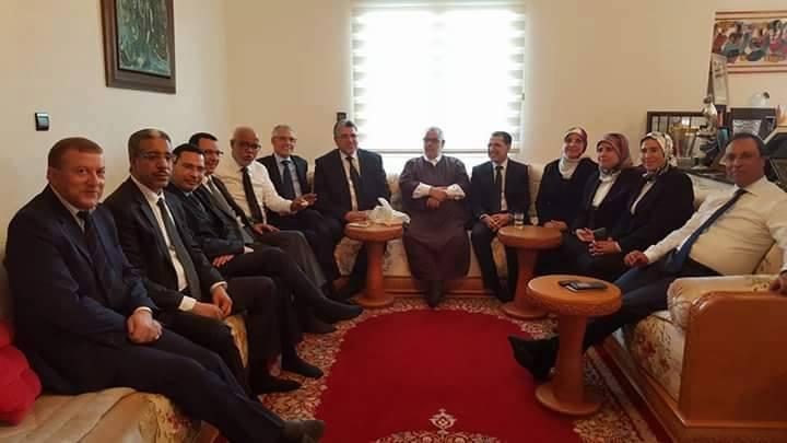 بعد تعيينهم من طرف الملك.. وزراء العدالة والتنمية يزورون بنكيران