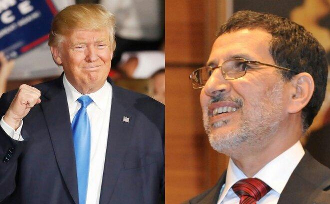 ترامب يكشف موقفه من حكومة العثماني ويتشبث بشراكة المغرب