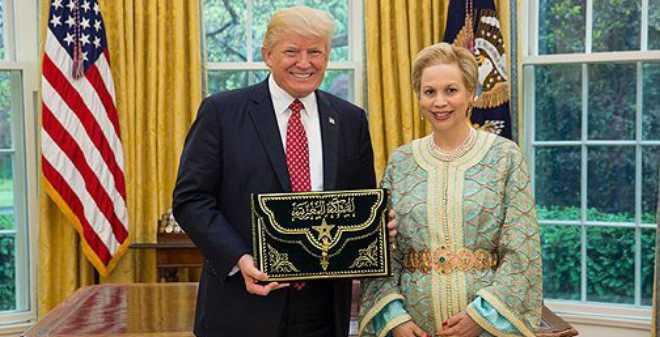 ترامب يستقبل للا جمالة العلوي السفيرة الجديدة للمغرب بالولايات المتحدة