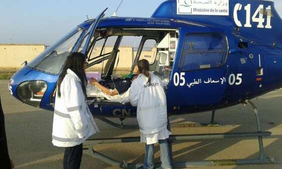 المروحية الطبية لوزارة الصحة تنقذ حالتين مرضيتين حرجتين في الناظور