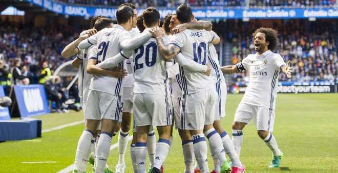 ريال مدريد يتوج بلقب الدوري الإسباني