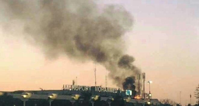ألسنة النار تخلف خسائر مادية كبيرة بمطار محمد الخامس