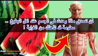 لن تصدق ماذا يحدث فى الجسم عند اكل البطيخ معلومة قد تذهلك من الغرابة
