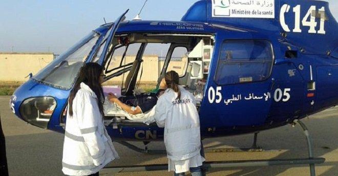 نقل طفل أصيب في حادثة سير بمروحية طبية من تنغير إلى مراكش