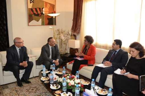 بحث إقامة علاقات استراتيجية بين وزارة الثقافة والاتصال والمنظمة الدولية للفرانكوفونية