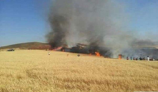 الخميسات: حريق يأتي على أزيد من 15 هكتار من الأراضي المزروعة بالحبوب