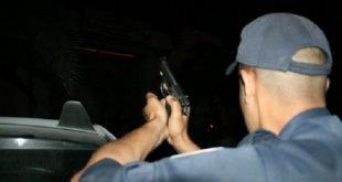 الشرطة تطلق النار في طنجة