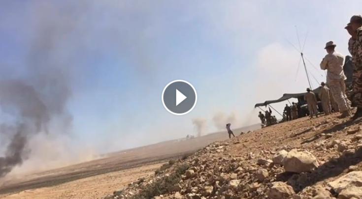 فيديو رائع من مناورات الاسد الافريقي لمدرعة M113 مغربية مزودة برشاش فالكون الفتاك و مدرعة السترايكر الامريكية يعطيان كثافة نارية هائلة بدعم جوي من مقاتلات الاف16 المغربية