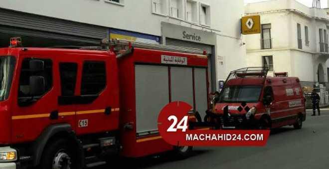 خسائر مادية كبيرة في حريق نشب داخل شركة