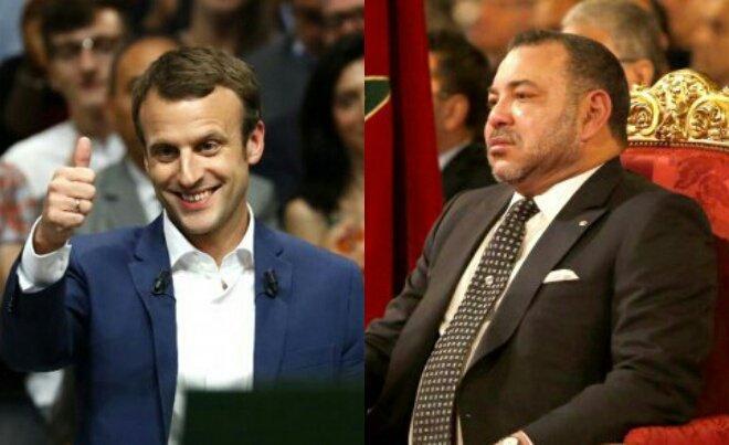 مكالمة هاتفية تجمع الملك والرئيس الفرنسي المنتخب