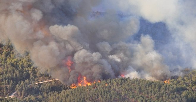 النيران تلتهم حوالي 22 هكتار من الأراضي بإقليم الخميسات
