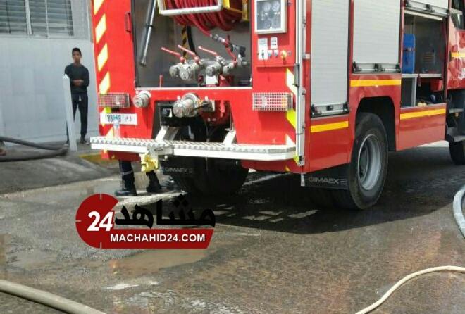 حريق يأتي على شركة للنسيج بالبيضاء