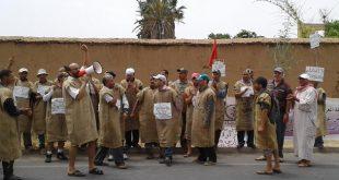 احتجاج عمال زراعيين بتارودانت