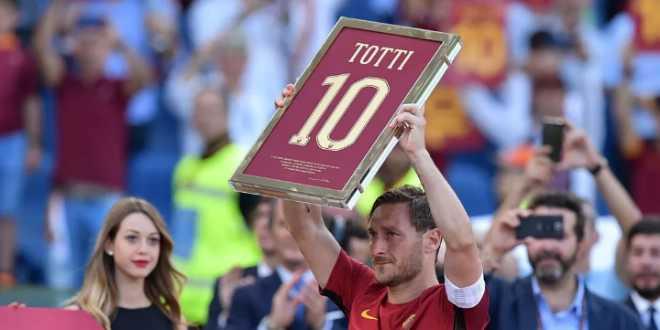 جماهير روما تكرم توتي في ليلة اعتزاله