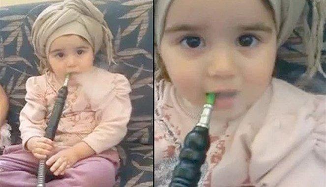 بالفيديو.. الطفلة عائشة أصغر مدخنة أرجيلة (شيشة) في العالم