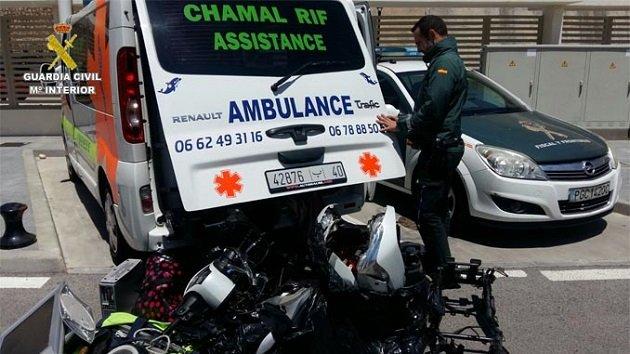 إسبانيا.. العثور على دراجات نارية مسروقة داخل سيارة إسعاف مغربية