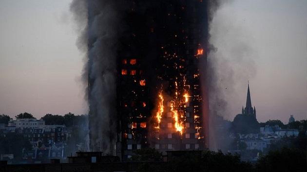 حريق برج لندن.. اتخاذ كافة التدابير لنقل ودفن جثامين الضحايا المغاربة