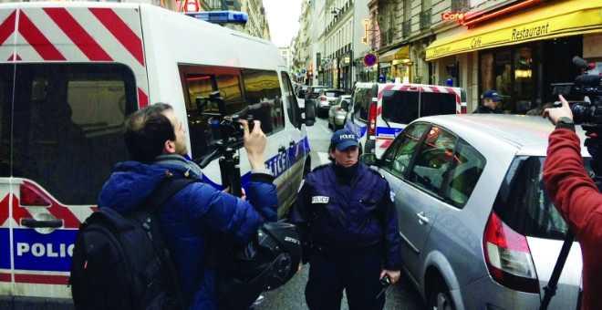 بالفيديو. هجوم مسلح على الشرطة الفرنسية في باريس