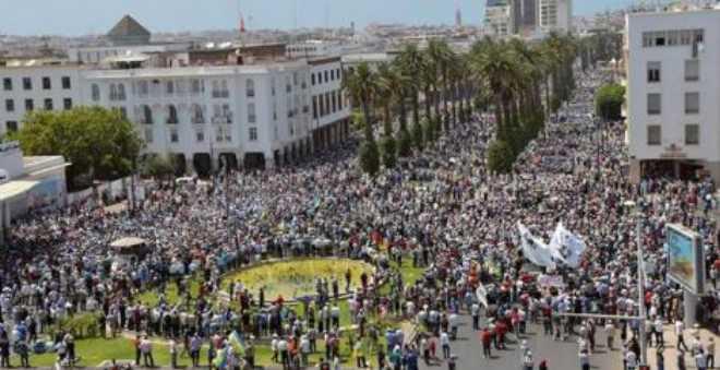 مسيرة الرباط.. تضارب في الأرقام والبيان الختامي يطالب بإطلاق سراح المعتقلين