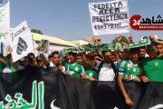 جمهور الرجاوي  يحتج ضد رئيس فريق الرجاء البيضاوي