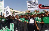 جمهور الرجاء الرياضي  يحتج ضد رئيس الفريق
