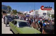 مسيرة شعبية على الاقدام لجنازة الفقيد والد مرتضى اعمراشا بإتجاه مقبرة المجاهدين