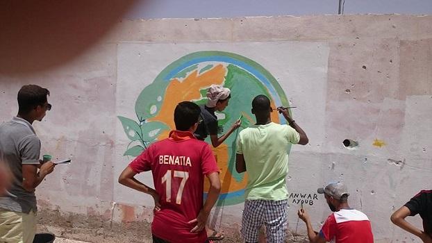 بويزكارن.. رسائل بيئية على جداريات من إبداع الأطفال والشباب