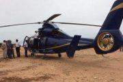 هبوط إضطراري لمروحية أجنبية في شاطئ بأكادير يستنفر الأمن