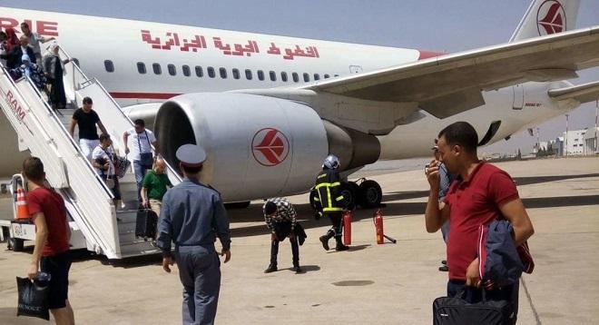 طائرة جزائرية تعود لمطار الدار البيضاء دقائق بعد إقلاعها
