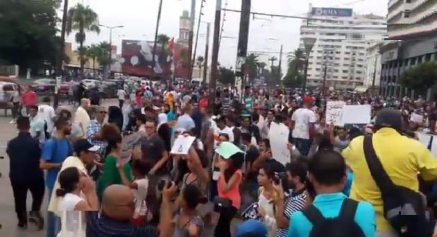 الدار البيضاء..احتجاجات ضد الاعتداء الجنسي على فتاة حافلة البرنوصي