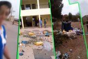 أحفير.. مهاجرة مغربية تحتج برمي الأزبال داخل البلدية