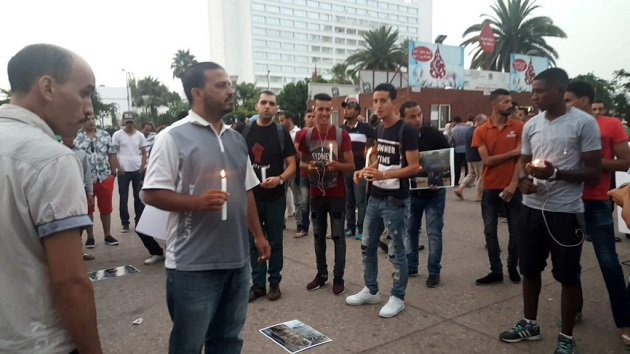 الدارالبيضاء.. وقفة بالشموع ترحما على وفاة عماد العتابي