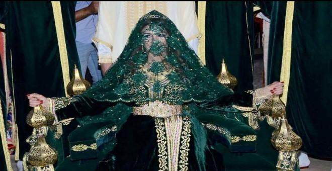 بالصور.. جنات مهيد بإطلالة مختلفة في حفل زفافها الأسطوري في مصر