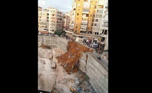 بالفيديو.. حالة من الهلع تصيب بيروت بعد انهيار شارع