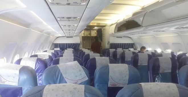 بالفيديو.. مسافر وحيد في رحلة طائرة بين فرنسا والمغرب