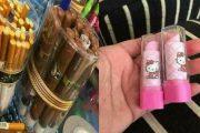 لوازم مدرسية على شكل ماكياج وسجائر تغضب الآباء