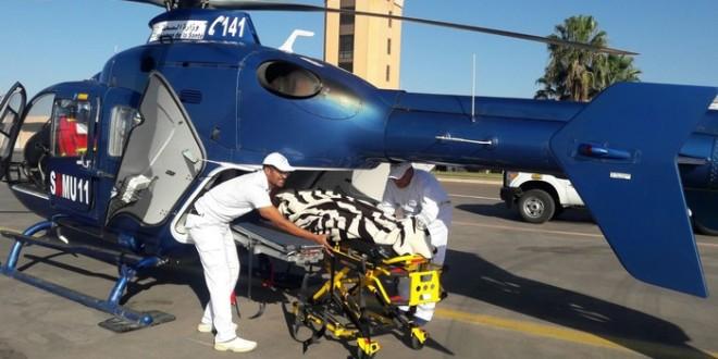 المروحيات الطبية تساهم في التعجيل بإنقاذ حالات المرضى الحرجة