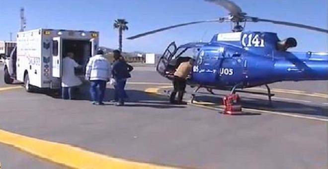 المروحية الطبية تنقل